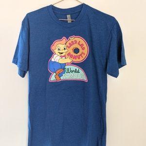 """Simpson's """"Lard Lad Donuts"""" T-shirt Blue Size L"""